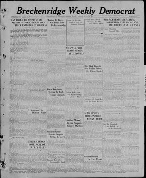 Breckenridge Weekly Democrat (Breckenridge, Tex), No. 45, Ed. 1, Friday, June 18, 1926