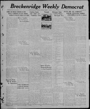 Primary view of object titled 'Breckenridge Weekly Democrat (Breckenridge, Tex), No. 46, Ed. 1, Friday, June 25, 1926'.