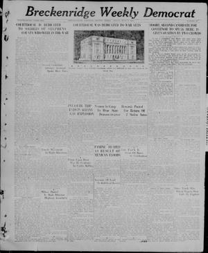Primary view of object titled 'Breckenridge Weekly Democrat (Breckenridge, Tex), No. 48, Ed. 1, Friday, July 9, 1926'.