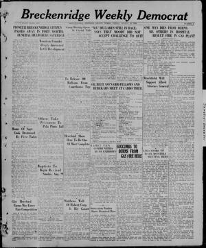 Primary view of object titled 'Breckenridge Weekly Democrat (Breckenridge, Tex), No. 1, Ed. 1, Friday, August 13, 1926'.