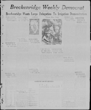 Breckenridge Weekly Democrat (Breckenridge, Tex), No. 4, Ed. 1, Friday, September 3, 1926
