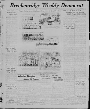 Primary view of object titled 'Breckenridge Weekly Democrat (Breckenridge, Tex), No. 6, Ed. 1, Friday, September 17, 1926'.