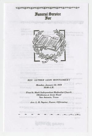 Primary view of object titled '[Funeral Program for Luther Leon Montgomery, January 22, 1979]'.