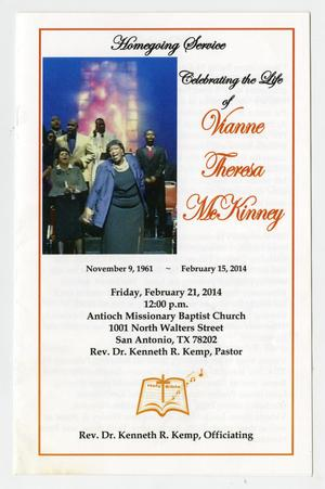 Primary view of object titled '[Funeral Program for Vianne Stone Burns McKinney, February 21, 2014]'.