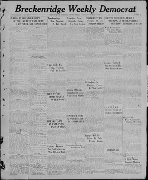 Primary view of object titled 'Breckenridge Weekly Democrat (Breckenridge, Tex), No. 9, Ed. 1, Friday, October 8, 1926'.