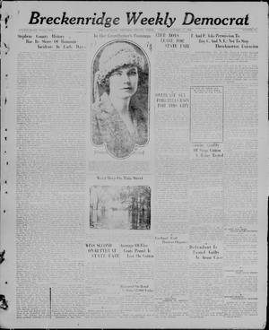 Primary view of object titled 'Breckenridge Weekly Democrat (Breckenridge, Tex), No. 10, Ed. 1, Friday, October 15, 1926'.