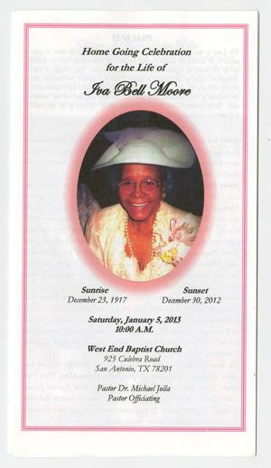 Primary view of object titled '[Funeral Program for Iva Bell Moore, January 5, 2013]'.