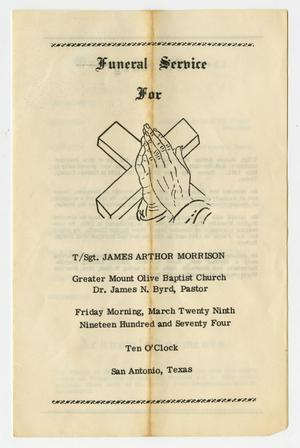 Primary view of object titled '[Funeral Program for James Arthor Morrison, March 29, 1974]'.
