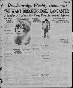 Primary view of object titled 'Breckenridge Weekly Democrat (Breckenridge, Tex), No. 13, Ed. 1, Friday, November 5, 1926'.