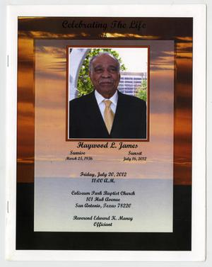 Primary view of object titled '[Funeral Program for Haywood L. James, July 20, 2012]'.
