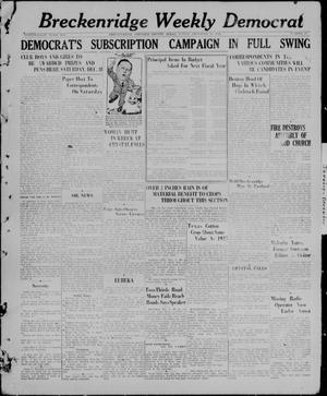 Primary view of object titled 'Breckenridge Weekly Democrat (Breckenridge, Tex), No. 17, Ed. 1, Friday, December 10, 1926'.
