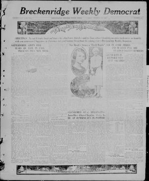 Primary view of object titled 'Breckenridge Weekly Democrat (Breckenridge, Tex), No. 20, Ed. 1, Friday, December 24, 1926'.