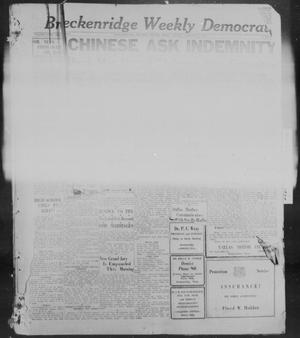 Primary view of object titled 'Breckenridge Weekly Democrat (Breckenridge, Tex), No. 21, Ed. 1, Saturday, January 1, 1927'.