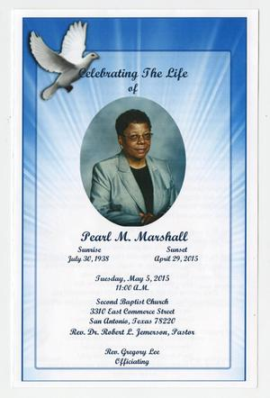 Primary view of object titled '[Funeral Program for Pearl M. Marshall, May 5, 2015]'.