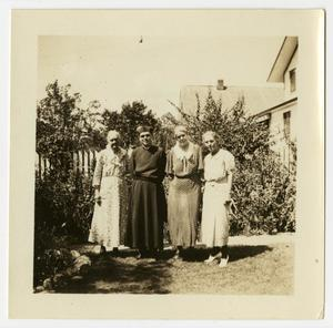 [Photograph of Three Older Women and a Man]