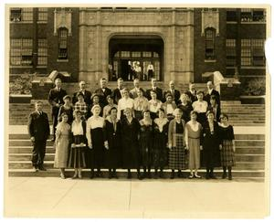 [Photograph of Fort Worth High School Faculty]