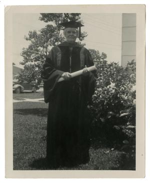 [Photograph of Charlie Mary Noble in Cap and Gown]