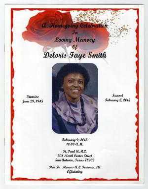 Primary view of object titled '[Funeral Program for Deloris Faye Smith, February 9, 2013]'.
