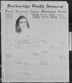 Primary view of object titled 'Breckenridge Weekly Democrat (Breckenridge, Tex), No. 38, Ed. 1, Friday, April 29, 1927'.