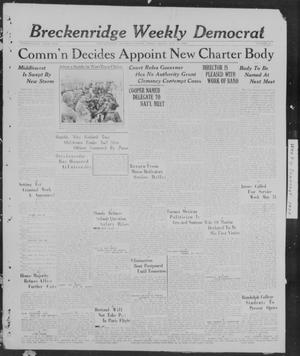 Primary view of object titled 'Breckenridge Weekly Democrat (Breckenridge, Tex), No. 41, Ed. 1, Friday, May 20, 1927'.
