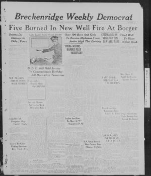 Primary view of object titled 'Breckenridge Weekly Democrat (Breckenridge, Tex), No. 43, Ed. 1, Friday, June 3, 1927'.