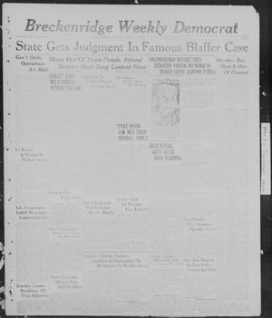 Primary view of object titled 'Breckenridge Weekly Democrat (Breckenridge, Tex), No. 4, Ed. 1, Friday, September 2, 1927'.