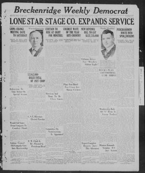 Breckenridge Weekly Democrat (Breckenridge, Tex), No. 17, Ed. 1, Friday, December 9, 1927