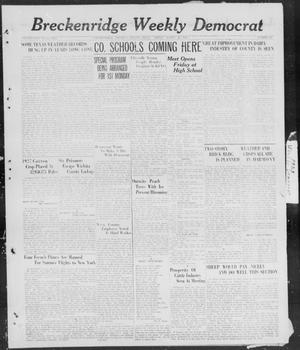 Primary view of object titled 'Breckenridge Weekly Democrat (Breckenridge, Tex), No. 32, Ed. 1, Friday, March 23, 1928'.