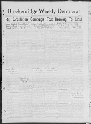 Primary view of object titled 'Breckenridge Weekly Democrat (Breckenridge, Tex), No. 33, Ed. 1, Friday, April 20, 1928'.