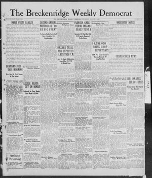 Primary view of object titled 'Breckenridge Weekly Democrat (Breckenridge, Tex), No. 49, Ed. 1, Thursday, August 9, 1928'.