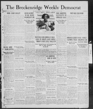Primary view of object titled 'Breckenridge Weekly Democrat (Breckenridge, Tex), No. 48, Ed. 1, Thursday, August 2, 1928'.