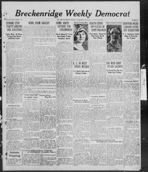 Primary view of object titled 'Breckenridge Weekly Democrat (Breckenridge, Tex), No. 51, Ed. 1, Thursday, August 23, 1928'.