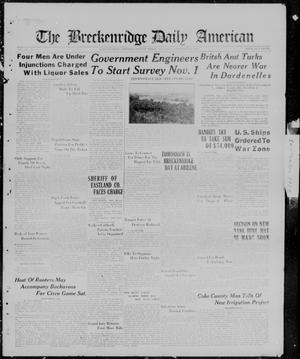 Primary view of object titled 'The Breckenridge Daily American (Breckenridge, Tex.), Vol. 3, No. 76, Ed. 1, Thursday, September 28, 1922'.