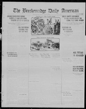 Primary view of object titled 'The Breckenridge Daily American (Breckenridge, Tex.), Vol. 3, No. 175, Ed. 1, Monday, January 22, 1923'.