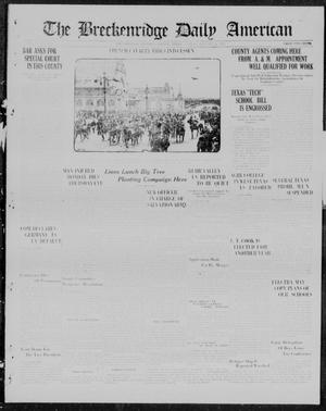 Primary view of object titled 'The Breckenridge Daily American (Breckenridge, Tex.), Vol. 3, No. 179, Ed. 1, Friday, January 26, 1923'.