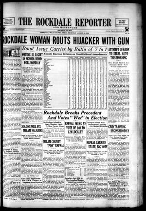 Primary view of The Rockdale Reporter and Messenger (Rockdale, Tex.), Vol. 63, No. 29, Ed. 1 Thursday, August 29, 1935