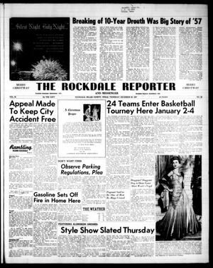 Primary view of object titled 'The Rockdale Reporter and Messenger (Rockdale, Tex.), Vol. 85, No. 50, Ed. 1 Thursday, December 26, 1957'.