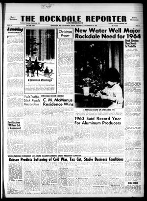 Primary view of object titled 'The Rockdale Reporter and Messenger (Rockdale, Tex.), Vol. 91, No. 51, Ed. 1 Thursday, December 26, 1963'.