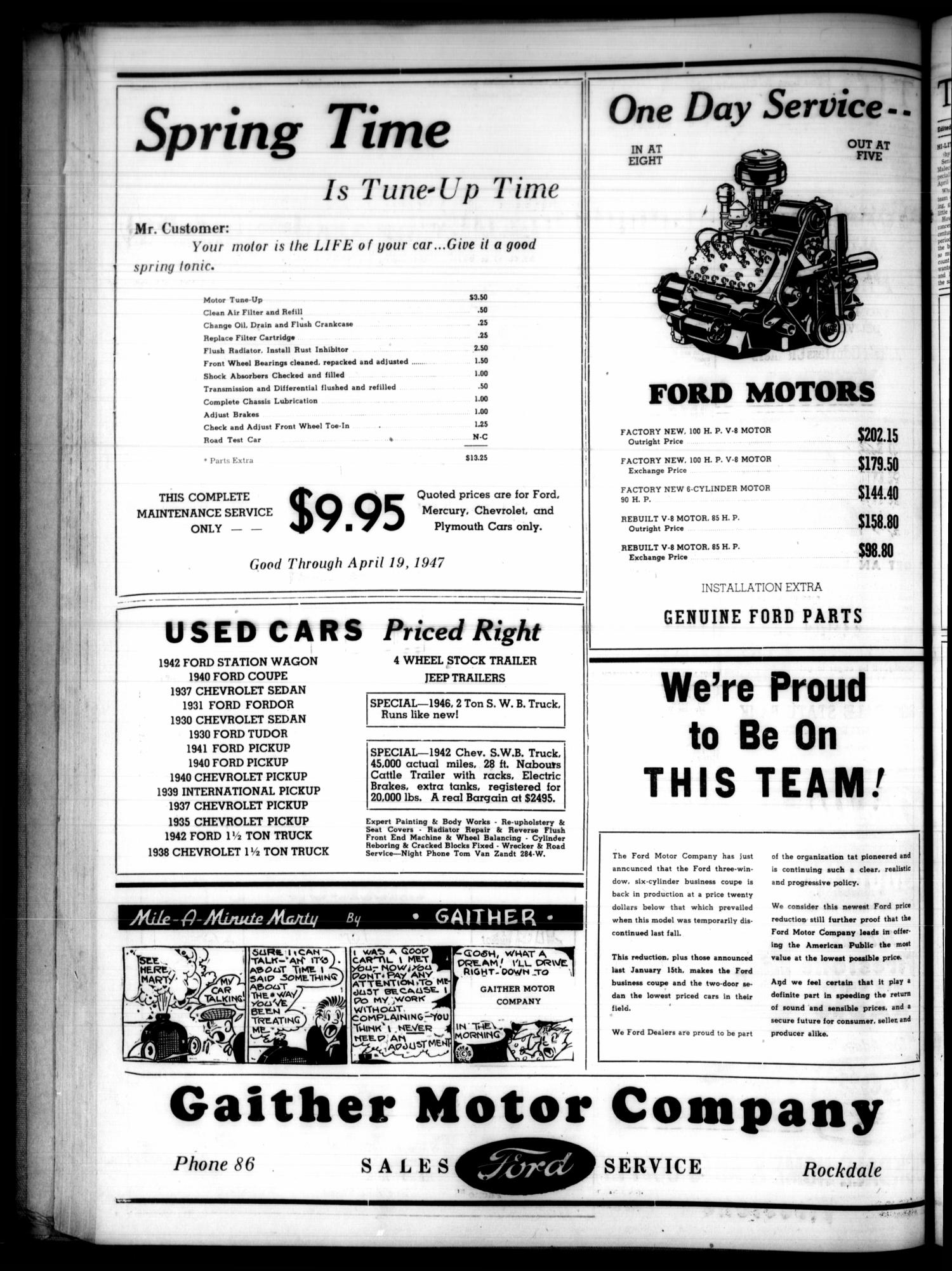 The Rockdale Reporter And Messenger Tex Vol 75 No 1941 Ford Station Wagon 11 Ed 1 Thursday April 10 1947 Page 6 Of Portal To Texas History