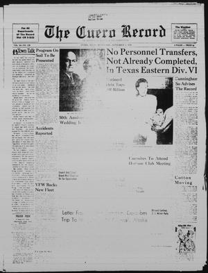 Primary view of object titled 'The Cuero Record (Cuero, Tex.), Vol. 65, No. 239, Ed. 1 Wednesday, September 2, 1959'.