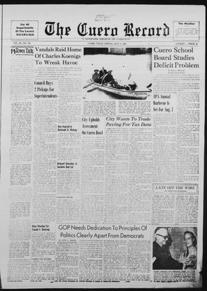 Primary view of The Cuero Record (Cuero, Tex.), Vol. 68, No. 194, Ed. 1 Friday, July 6, 1962