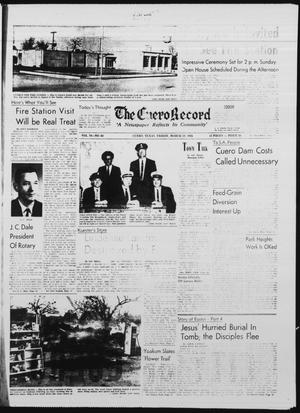 Primary view of object titled 'The Cuero Record (Cuero, Tex.), Vol. 70, No. 68, Ed. 1 Friday, March 20, 1964'.