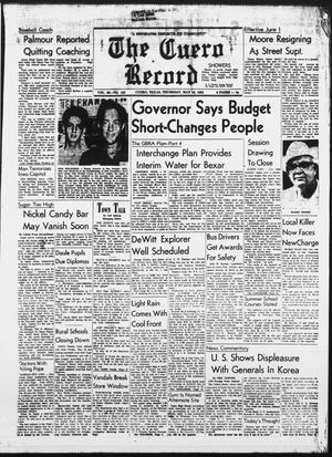 Primary view of object titled 'The Cuero Record (Cuero, Tex.), Vol. 69, No. 122, Ed. 1 Thursday, May 23, 1963'.