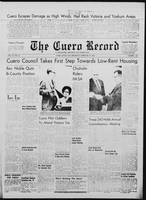 Primary view of object titled 'The Cuero Record (Cuero, Tex.), Vol. 72, No. 34, Ed. 1 Thursday, February 10, 1966'.