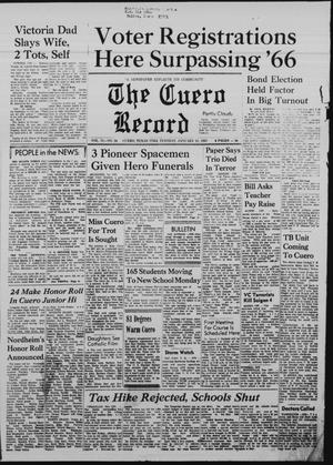 Primary view of object titled 'The Cuero Record (Cuero, Tex.), Vol. 73, No. 26, Ed. 1 Tuesday, January 31, 1967'.