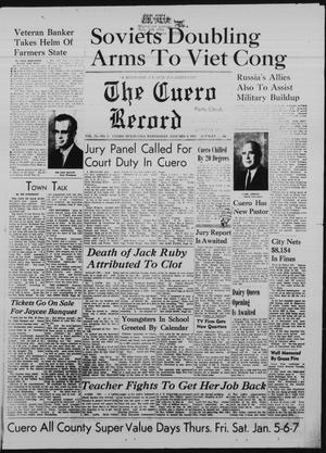 Primary view of object titled 'The Cuero Record (Cuero, Tex.), Vol. 73, No. 3, Ed. 1 Wednesday, January 4, 1967'.