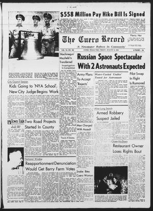 Primary view of object titled 'The Cuero Record (Cuero, Tex.), Vol. 70, No. 193, Ed. 1 Friday, August 14, 1964'.