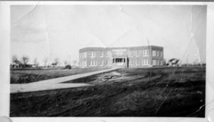 Primary view of object titled '[Exterior of the Deaf Smith County Hospital]'.