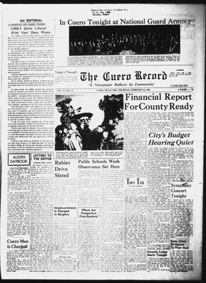 Primary view of object titled 'The Cuero Record (Cuero, Tex.), Vol. 71, No. 47, Ed. 1 Thursday, February 25, 1965'.
