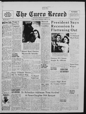Primary view of object titled 'The Cuero Record (Cuero, Tex.), Vol. 70, No. 71, Ed. 1 Wednesday, April 30, 1958'.